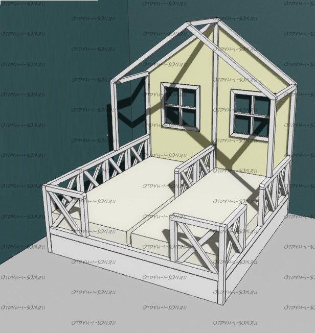 Кровать Домик Butterfly №112 (любые размеры)
