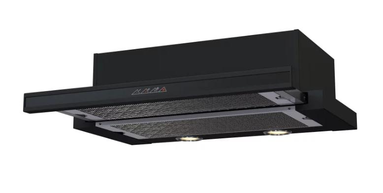 Встраиваемая вытяжка KRONA KAMILLA sensor 600 black (2 мотора)