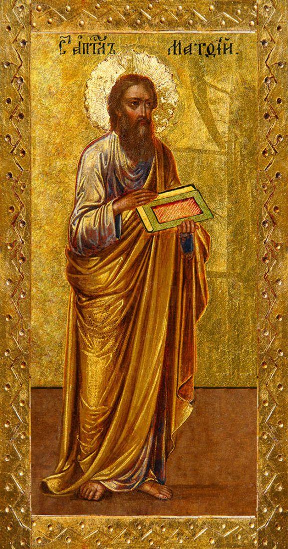 Мерная икона Апостол Матфей (25x50см)
