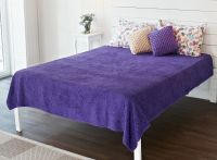 Фиолетовый. Махровая простыня-покрывало  200*220, Туркменистан