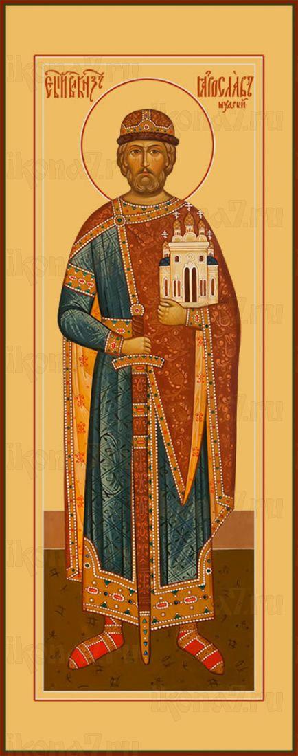 Мерная икона Ярослав Мудрый благоверный князь (25x50см)
