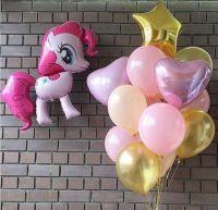 Набор шаров нежный с Пони
