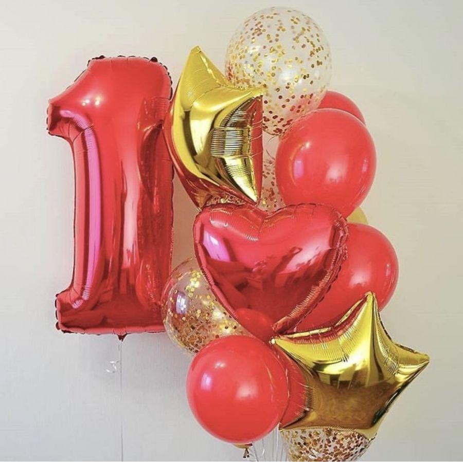 Оформление гелиевыми шарами 1 годик
