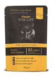 FITMIN Пауч для кошек Кусочки с курицей в соусе 85 г