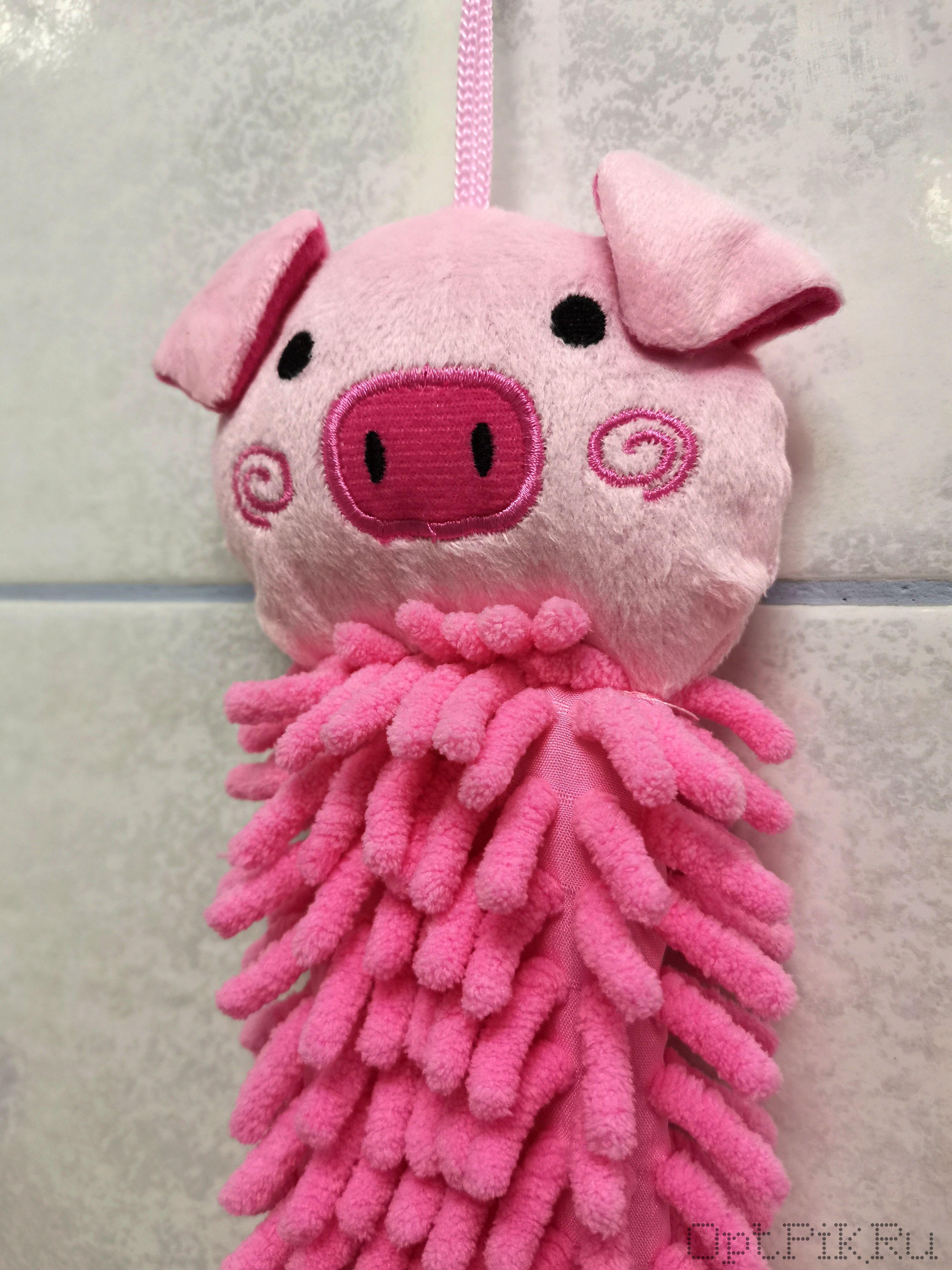 """Мягкая мочалка с игрушкой """"Свинка"""""""