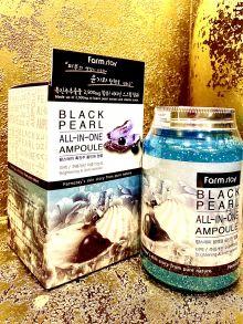Многофункциональное ампульное средство для лица и тела с черным жемчугом  Farm Stay Black Pearl All-In-One Ampoule, 250 мл