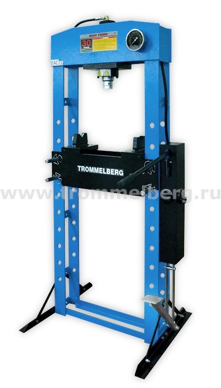 Пресс напольный с манометром и двухскоростным приводом (30 т)