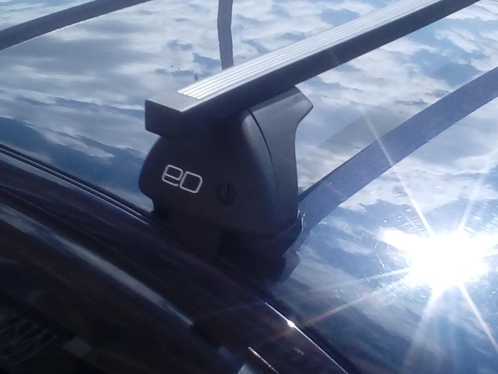 Багажник на крышу Chevrolet Niva (без рейлингов), Евродеталь, стальные прямоугольные дуги