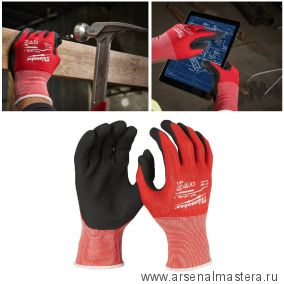 Обливные перчатки с защитой от порезов уровень 1 размер 8 / M MILWAUKEE 4932471416