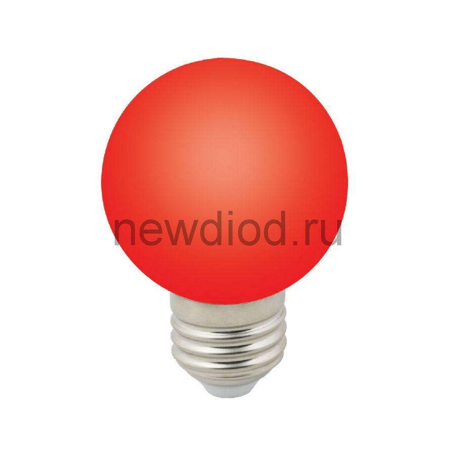 """Лампа декоративная светодиодная LED-G60-3W/RED/E27/FR/С Ф""""шар"""", матовая 3000K ТМ Volpe"""