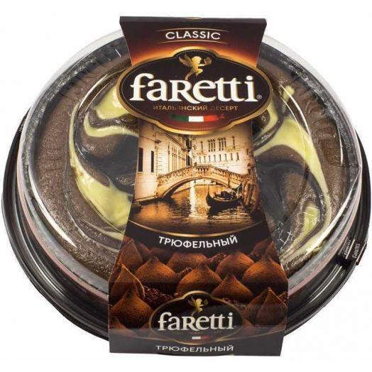 Торт Faretti бисквитный трюфельный 400г