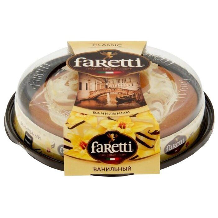 Торт Faretti бисквитный ванильный 400г