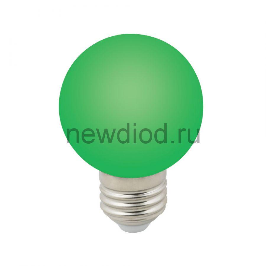 """Лампа декоративная светодиодная LED-G60-3W/GREEN/E27/FR/С Ф""""шар"""", матовая 3000K ТМ Volpe"""