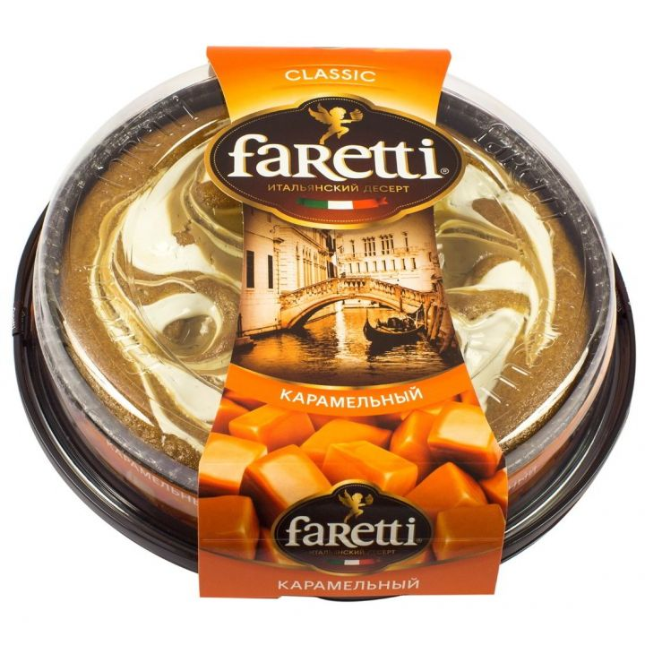 Торт Faretti бисквитный карамельный 400г