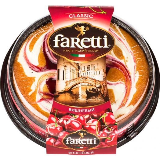 Торт Faretti бисквитный вишневый 400г