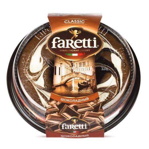 Торт Faretti бисквитный шоколадный 400г