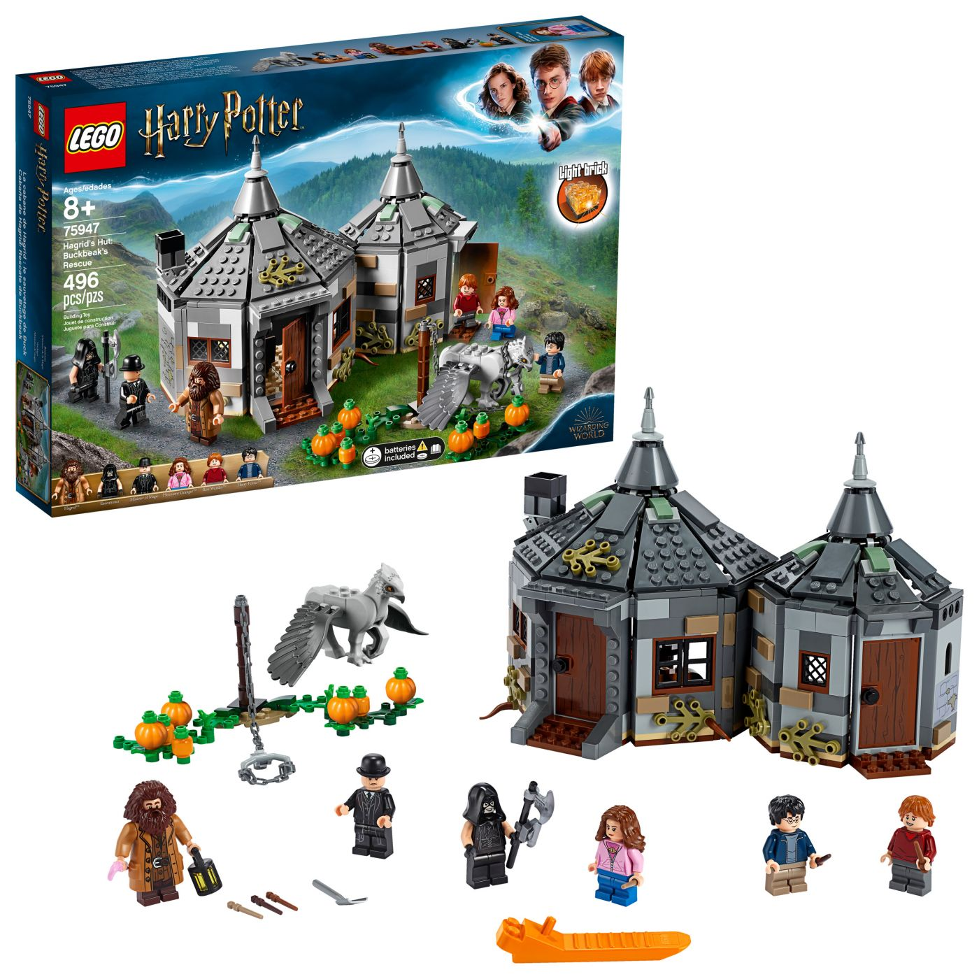 Конструктор LEGO Harry Potter Гарри Поттер 75947 Хижина Хагрида: спасение Клювокрыла