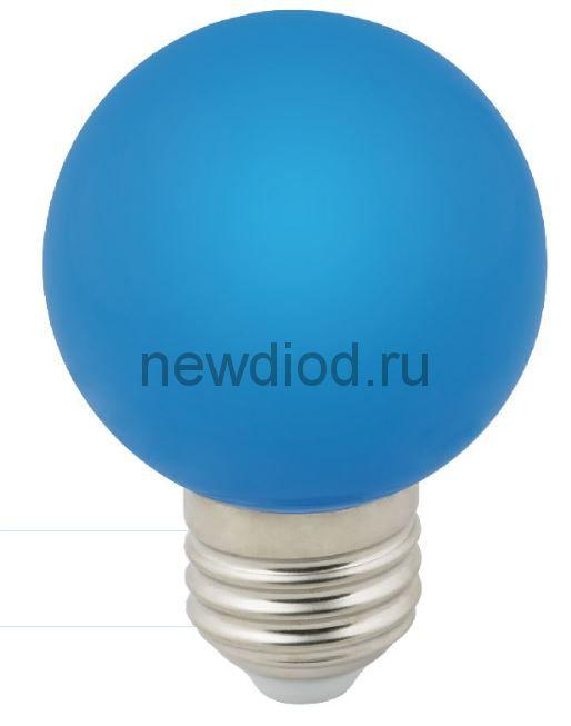 """Лампа декоративная светодиодная LED-G60-3W/BLUE/E27/FR/С Ф""""шар"""", матовая 3000K ТМ Volpe"""