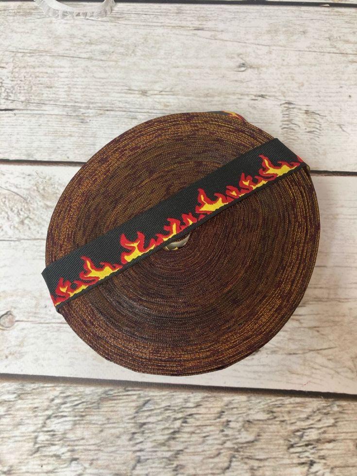 Лампас вышивка Огонь