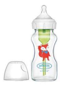 "Dr.Brown's бутылочка с широким горлышком ""Options+"" 270 мл, с соской 3го уровня, от 6 мес. СТЕКЛО (арт.WB91622)"