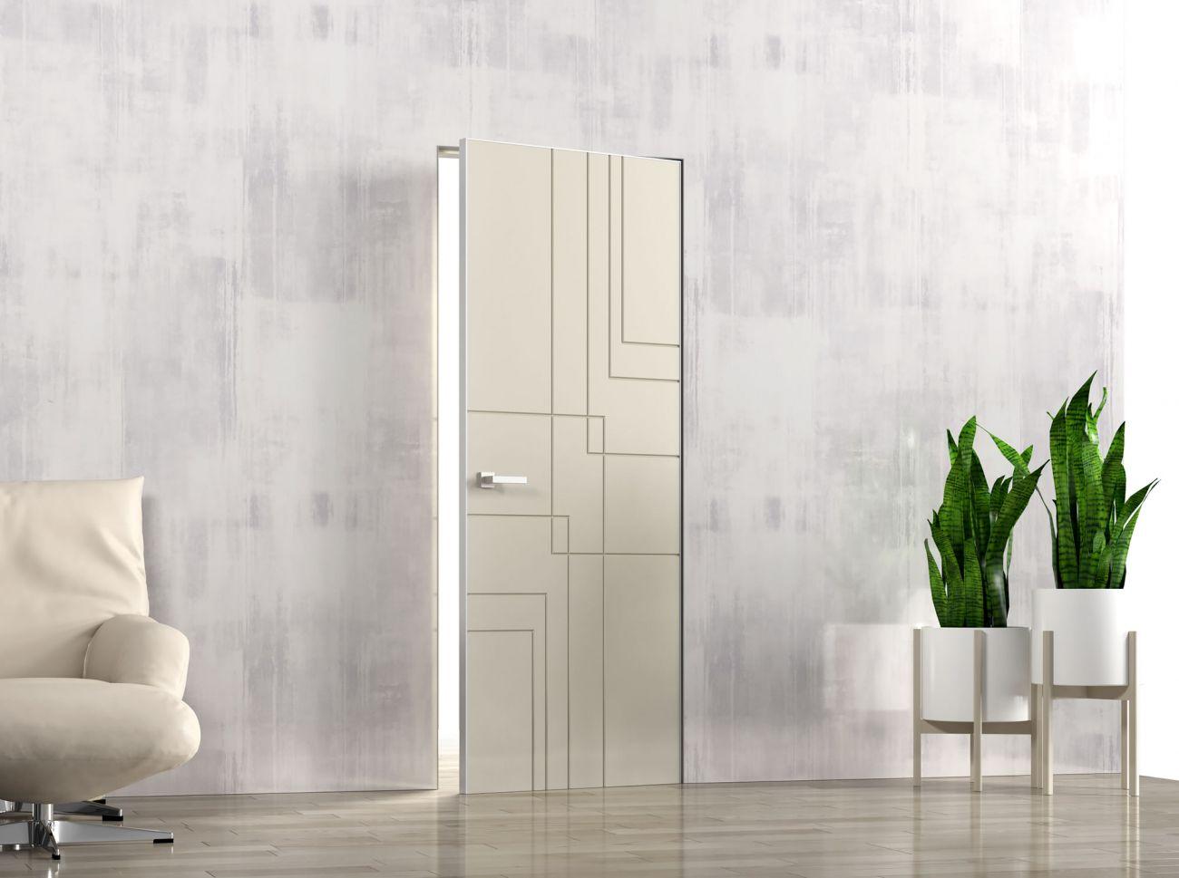 Врезка 2 скрытых петель Kubica в межкомнатную дверь