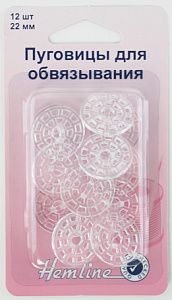 Фото в упаковке пуговицы для обвязывания
