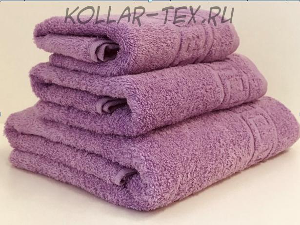 Комплект махровых полотенец сиреневый, Туркменистан