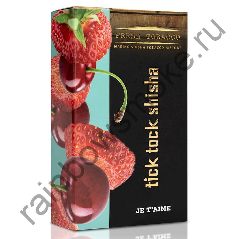 Tick Tock Hookah 100 гр - Je T'aime (Strawberry & Cherry) (Клубника и Вишня)