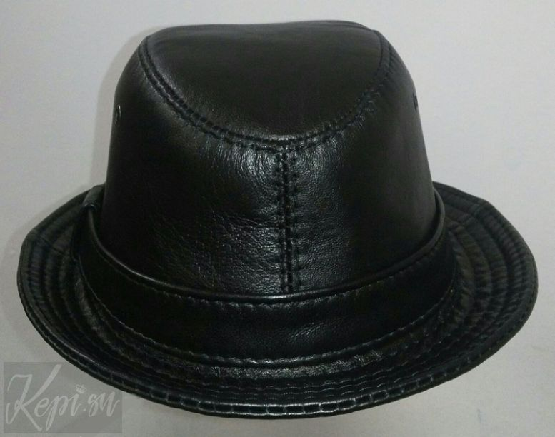 Шляпа-женская-кожаная