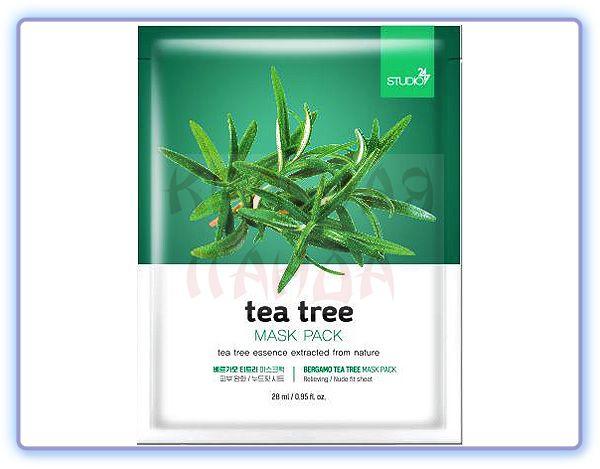 Маска для лица с экстрактом чайного дерева Bergamo Tea Tree Mask Pack