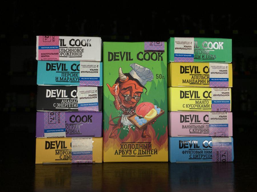Кальянная бестабачная смесь Devil Cook Hard - 1,2мг 50г