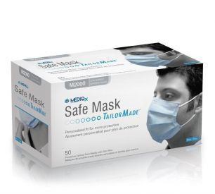 Набор  нестерильных масок, 50 штук. Цвет-голубой