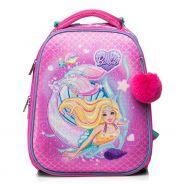 Рюкзак школьный Hatber Ergonomic Барби 37х29х17см 2 отделения