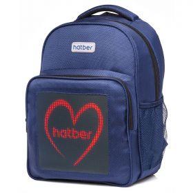 Рюкзак Hatber Joy MINI, с LED-дисплеем, цвет: синий