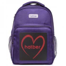 Рюкзак Hatber Joy MINI, с LED-дисплеем, цвет: фиолетовый