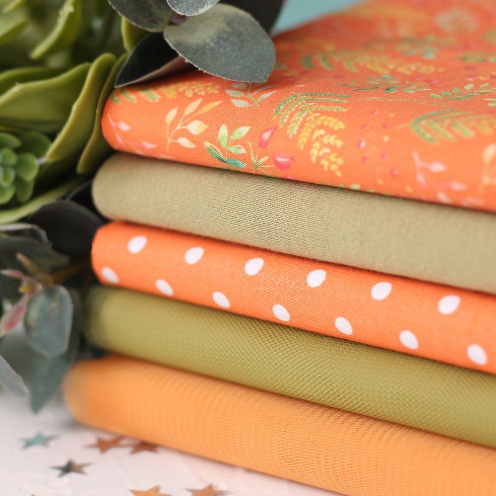 Набор тканей для пошива Осенняя лисичка