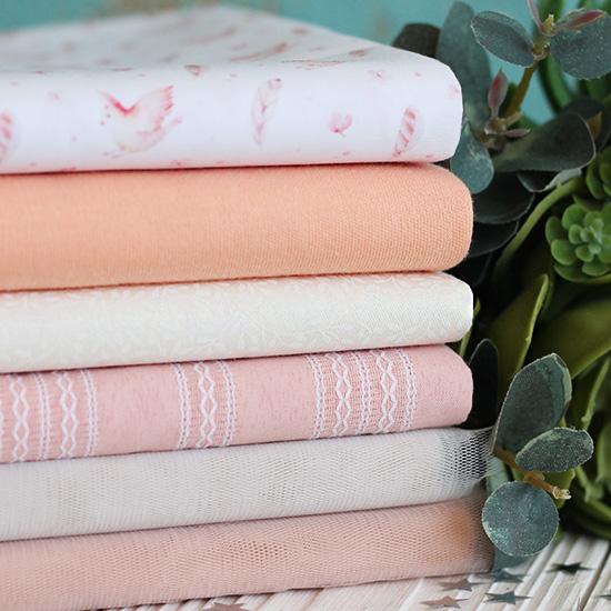 Набор тканей для пошива Нежный персик
