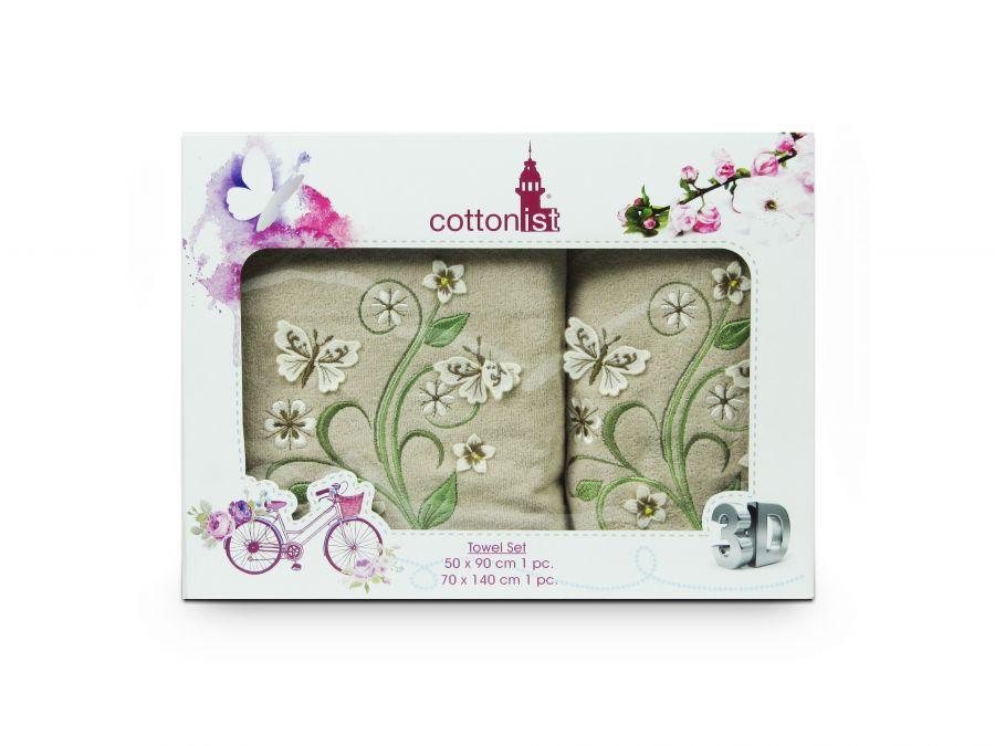 Комплект полотенец Cottonist 3D Kadife в коробке