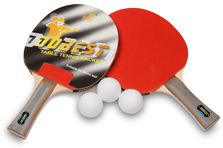 Набор для настольного тенниса DOBEST 17BR 0 звезд (2 ракетки, 3 шарика)