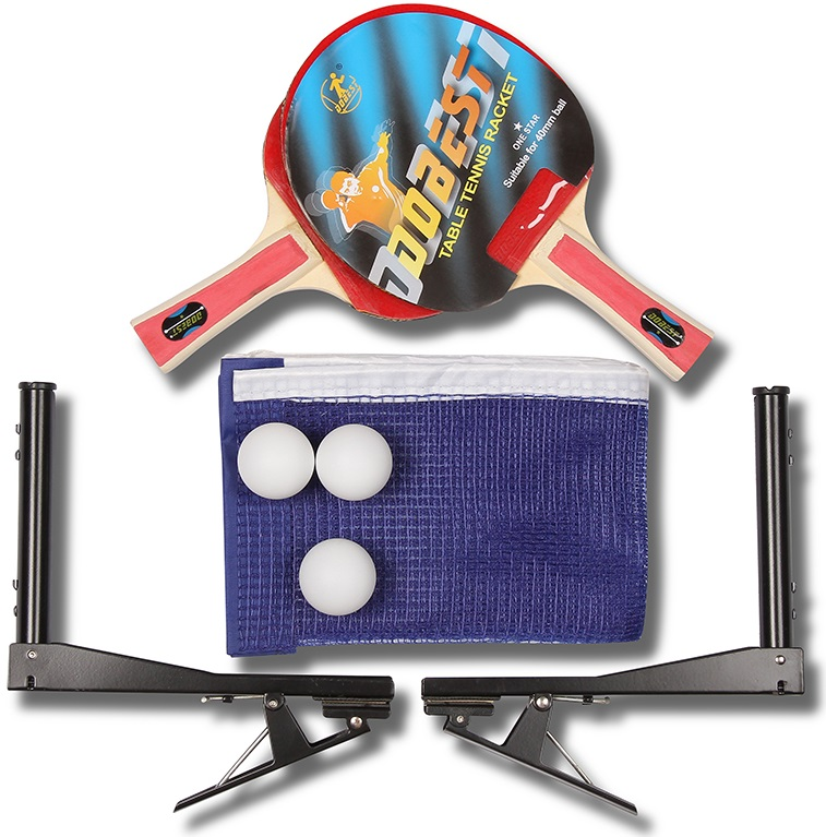 Набор для настольного тенниса DOBEST 19BB 1 звезда (2 ракетки, 3 шарика, сетка, чехол)