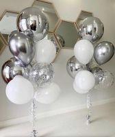 Фонтан с шаром сфера хром серебро