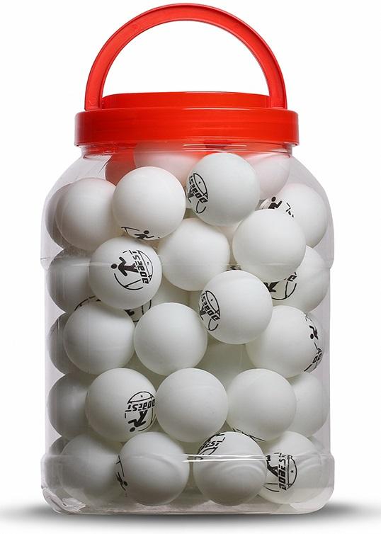 Шарики для настольного тенниса DOBEST 06-BA 1 звезда 60шт в банке белые