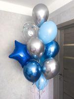 Гелиевые шары фонтан с синей звездой
