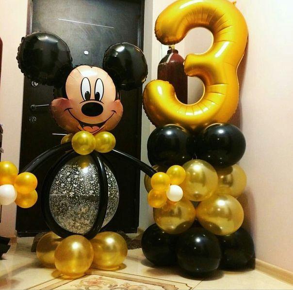 Композиция из воздушных шаров День рождения, Микки Маус