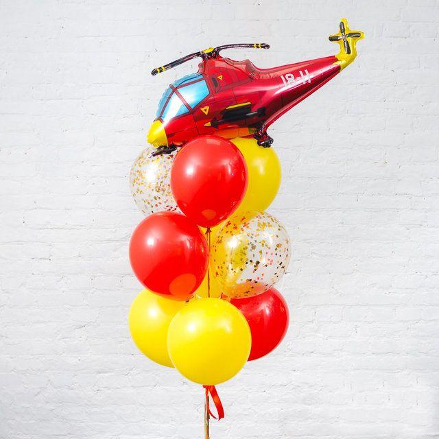 Композиция из воздушных шаров, Вертолет