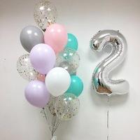 Композиция из гелиевых шаров День рождения № 56