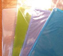 пакет упаковочный с жестким дном ПРОЗРАЧНЫЙ  размер дна 22*28 см высота в расправленном виде 68 см ЦВЕТ ДНА  НА ВЫБОР ( дно жесткое, не проминается, плотность пленки 40 мкрн)