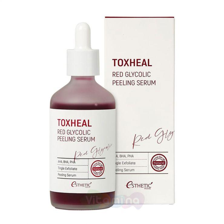 Esthetic House Пилинг-сыворотка гликогелевая Toxheal Red Glyucolic Peeling Serum, 100 мл