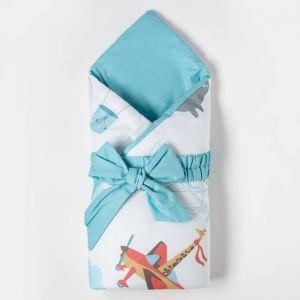 """Одеяло-конверт """"Крошка Я"""" Авиатор , 100х100 см, 100% хлопок 5100071"""