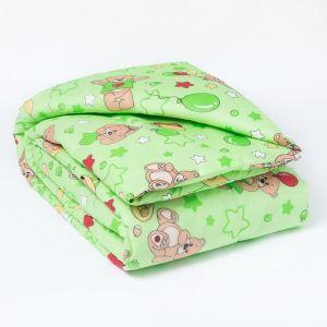 Одеяло, размер 110*140 см, цвет зелёный 623 1423999